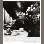 John Minihan (Irish, born 1946); Samuel Beckett photographed in Café Français, Boulevard St. Jacques, Paris;