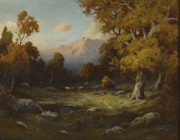 Alexis Matthew Podchernikoff (Russian/American, 1886-1933) Sunset in the Sierras 22 x 28in