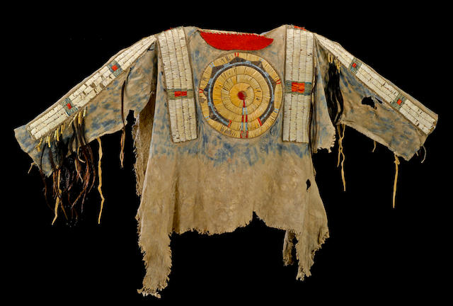 The Bones Collection, including an early Cheyenne quilled war shirt