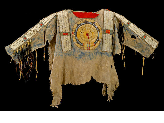 The Bones Collection, including an early Cheyenne quilled shirt