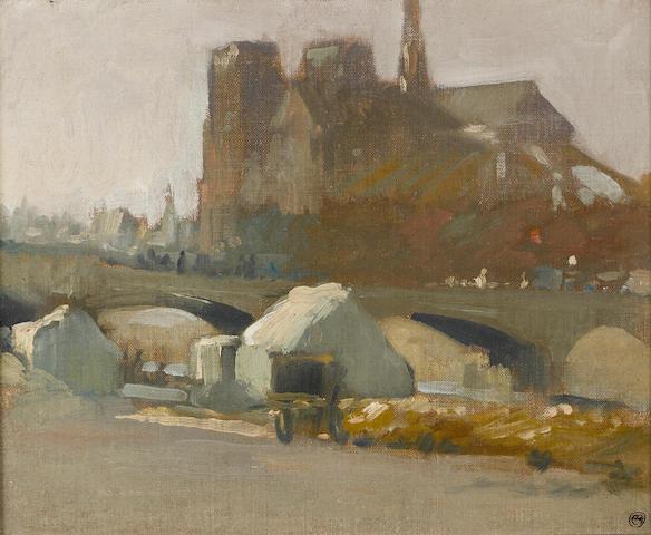 Xavier Martinez, View of Notre Dame