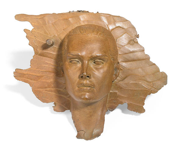 Robert Graham, Brooke Shields, bronze, 12 x 12in