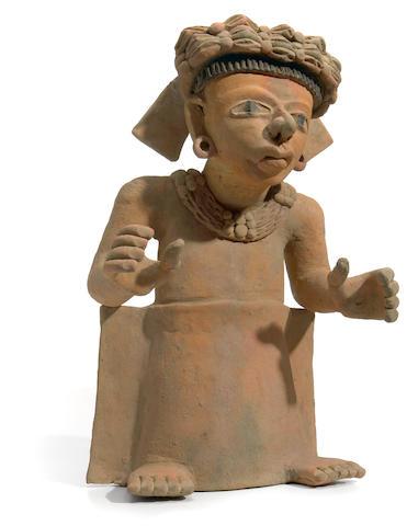 Veracruz Standing Priest, Remojadas,<br>Late Classic, ca. A.D. 550-950
