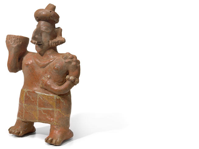 Nayarit Standing Female Figure, Ixtlán del Río Style,<br>Protoclassic, ca. 100 B.C.-A.D. 250