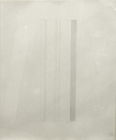 Gene Davis (American, 1920-1985) Untitled, 1973 29 x 23in