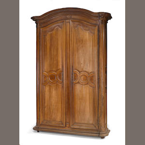 A Louis XV walnut armoire . third quarter 18th century