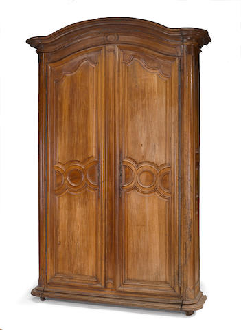 A Louis XV walnut armoirethird quarter 18th century