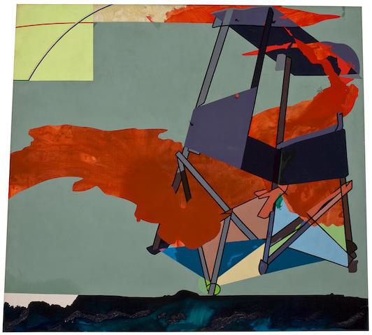 Hervé Télémaque (born 1937) Untitled, 1990 left panel: 51 3/16 x 58in. (130 x 147.3cm)  right panel: 51 3/16 x 57 7/8in. (130 x 147cm)
