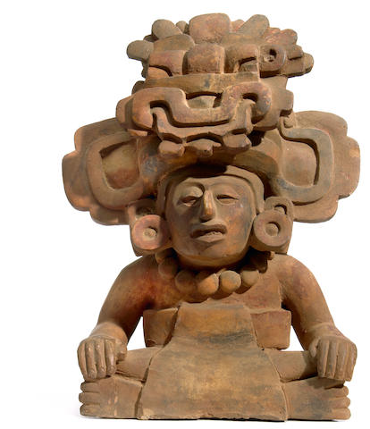 Zapotec Figural Urn height 14 1/2 inches<i/>