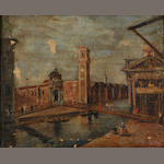 Italian School A view of Venice 14 x 17 1/2in