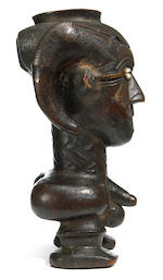 Kuba Anthropomorphic Ritual Cup, Democratic Republic of the Congo