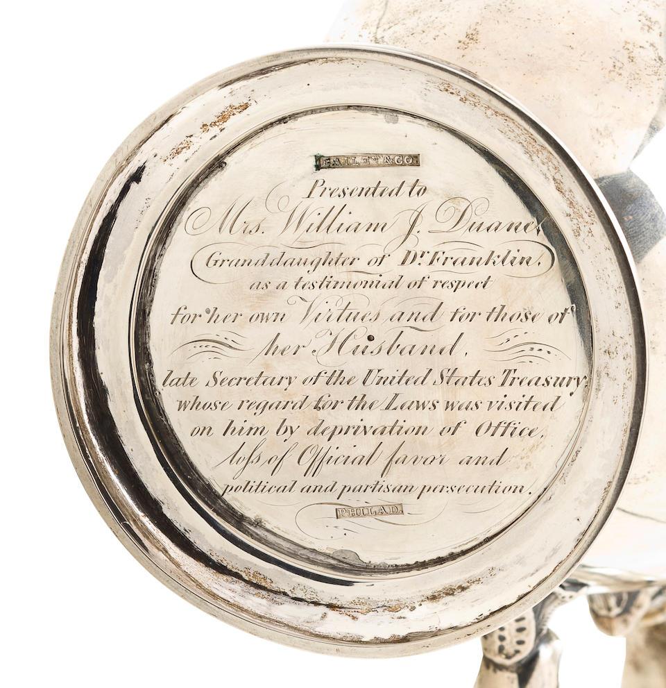 An American silver urn form coffee pot Bailey & Co., 1848-78