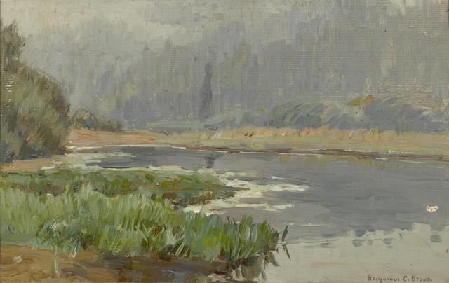 Benjamin Chambers Brown (American, 1865-1942) Mountian lake sight: 5 x 8in