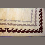 A Chinese Chain Stitch  size approximately 13ft. 5in. x 16ft. 4in.