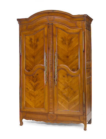 A Louis XV fruitwood armoire late 18th century