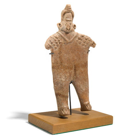 Colima Standing Flat Female Figure, Coahuayana Valley Style,<br>Protoclassic, ca. 100 B.C.-A.D. 250