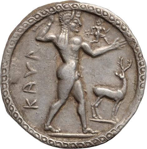 Bruttium, Caulonia, Stater, 530-510 BC