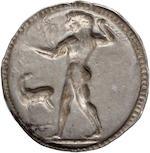 Bruttium, Caulonia, Nomos, 530-510 BC