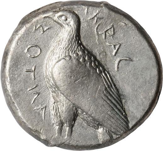 Sicily, Akragas, Tetradrachm, 460 BC