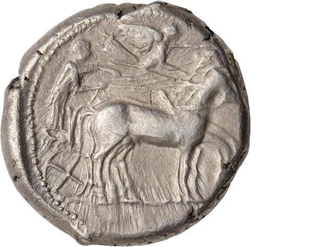 Sicily, Gela, Tetradrachm, 440-430 BC