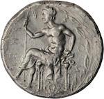 Bruttium, Rhegium, Tetradrachm, 425-420 BC