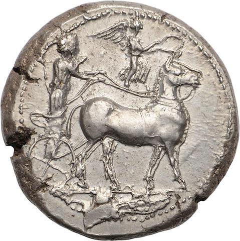 Sicily, Messana, Tetradrachm, 425-421 BC