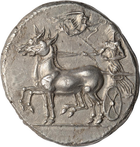 Sicily, Syracuse, Tetradrachm, Transitional Type, c. 412-408 BC