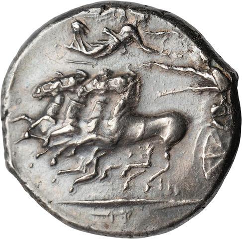 Siculo-Punic, Rsmlqrt, Tetradrachm, 350-300 BC