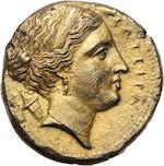 Sicily, Syracuse, Agathokles, 317-289 BC, EL 100 Litrae, c. 306/5 BC
