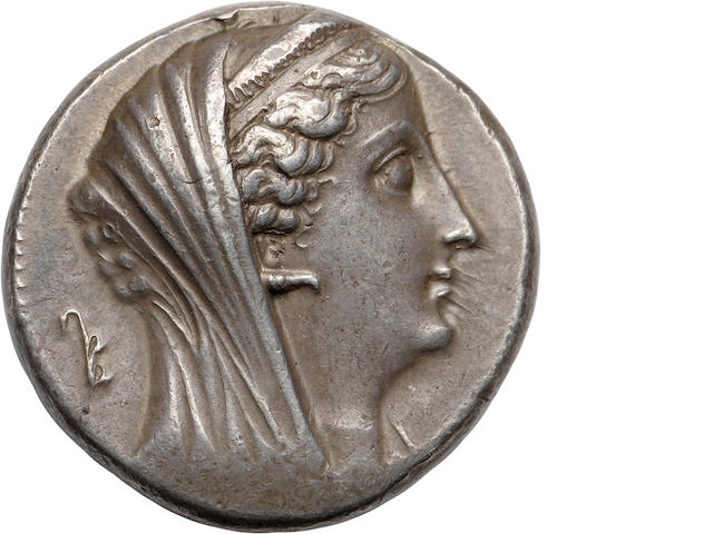 Ptolemaic Kings of Egypt, Ptolemy III, for the Deified Arsinoe II, 246-221 BC, Decadrachm, c. 246-41 BC