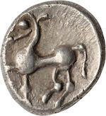 Eastern Celtic Imitation of Philip II - Kapostal Type, 2nd-1st Century BC, Obol