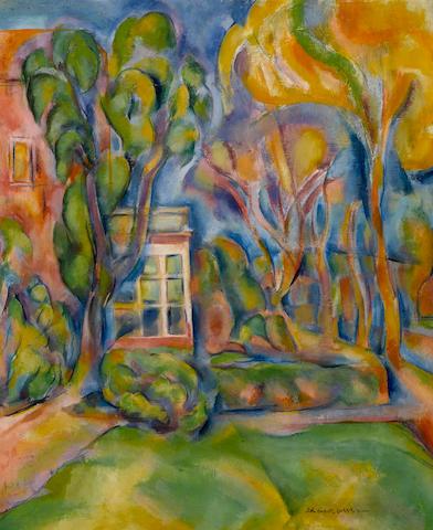 John Emmett Gerrity (American, 1895-1980) Berkeley Landscape, 1927 17 3/4 x 15in