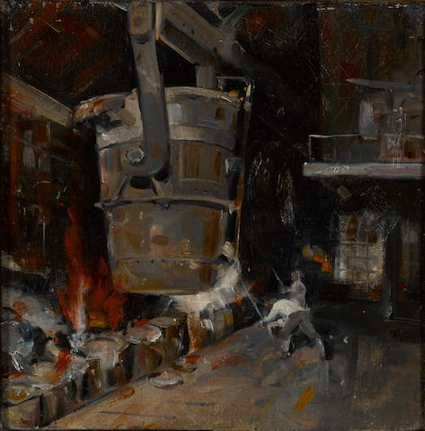 Louis Siegriest (American, 1899-1989) Steel mill, 1931 10 x 9 3/4in
