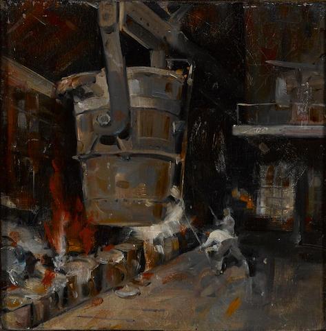 Louis Siegriest (American, 1899-1989) Steel mill, 1931 10 x 9 3/4in
