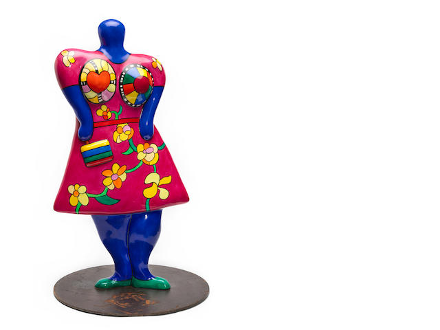 Niki de Saint Phalle (French, 1930-2002) Nana with Handbag, 2000 24 1/4 x 12 1/2 x 5 1/2in (61.6 x 31.7 x 14cm)