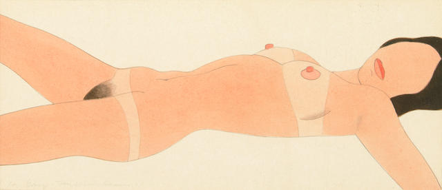Tom Wesselmann (American, 1931-2004) Open Ended Nude (Drawing Edition) #3, 1971 3 7/8 x 8 7/8in (9.8 x 22.5cm)