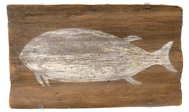 Tiwi Bark Painting of a Fish, Arnhem Land, Australia
