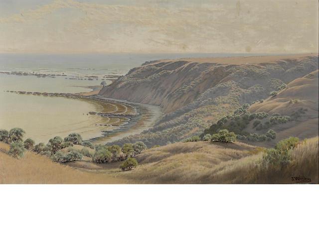 Jack Wisby (American, 1870-1940) Duxbury Reef, Marin county 14 x 24in