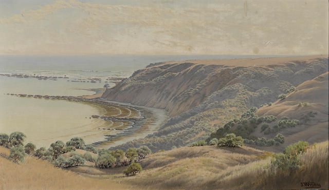 Jack Wisby (American, 1870-1940) Duxbury Reef, Marin county 14 x 24in