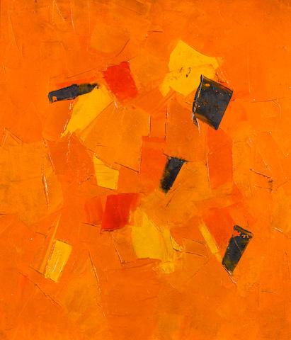 Olga Albizu (Puerto Rican, 1924-2005) Alla Africa, c. 1963 19 x 17in (48.2 x 43.1cm)