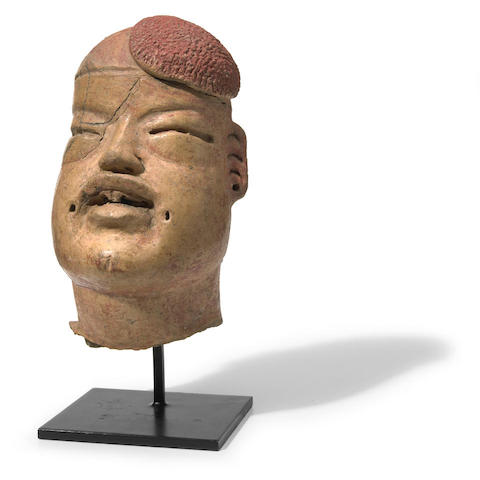 Olmec Head Fragment, Las Bocas Style,<br>Early Preclassic, ca. 1200-900 B.C.
