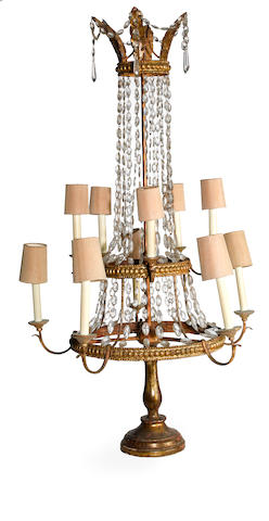 A Neoclassical style ten light girandole