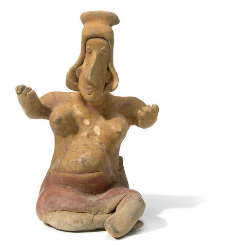 A Jalisco seated female figure, Ameca-Etzatlán Style