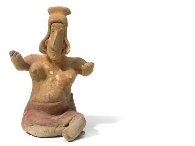 Jalisco Seated Female Figure, Ameca-Etzatlán Style, <br>Protoclassic, ca. 100 B.C.-A.D. 250