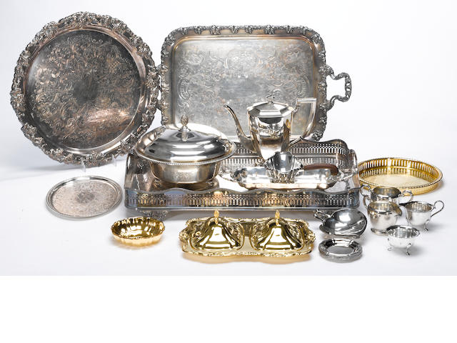 A quantity of plated table articles, flatware and cutlery plated table articles, flatware and cutlery