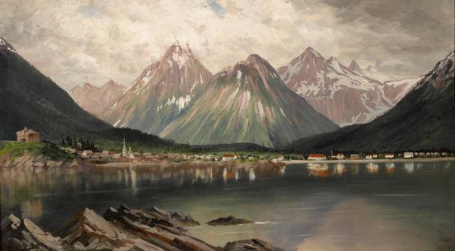 James Everett Stuart (1852-1941) Sitka, Alaska, 1895 24 x 42in