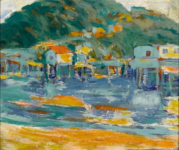 Selden Connor Gile (American, 1877-1947) Corinthian island, circa 1926 10 x 12in
