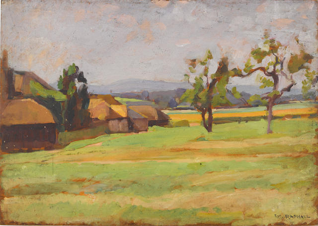 Joseph Raphael, Landscape, Oil on board, unframed