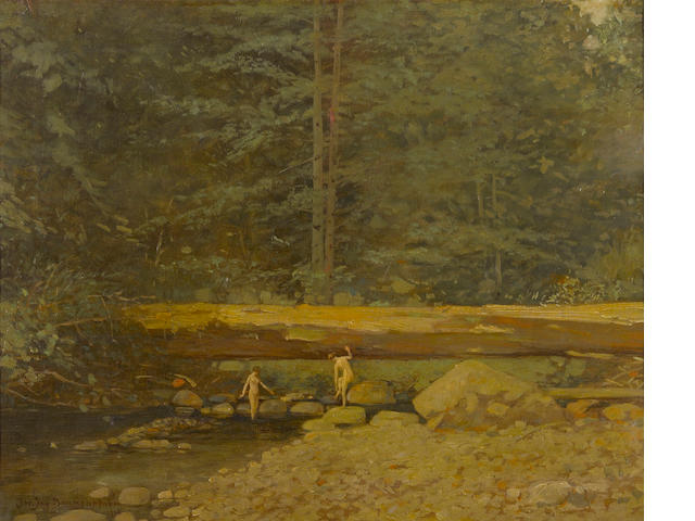 John Jay Baumgartner, The Bathers, oil on canvas