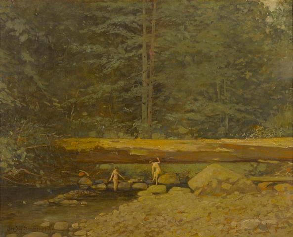 John Jay Baumgartner, The Bathers, oil on canvas
